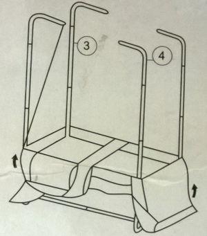 cách lắp khung dọc của tủ vải
