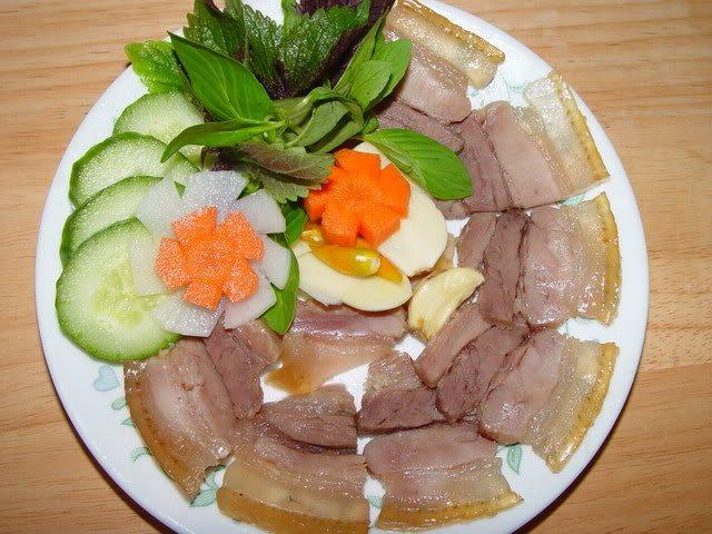 Các món ngon ngày tết dễ làm ở miền Trung- Thịt heo ngâm nước mắm