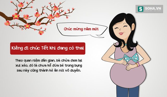 Những điều kiêng kỵ trong ngày mùng 1 - Không nên đi chúc tết nếu đang mang bầu