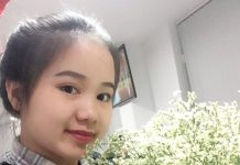 Hình ảnh cô gái 9x chụp cùng bó hoa tươi do chính mình nuôi tròng được
