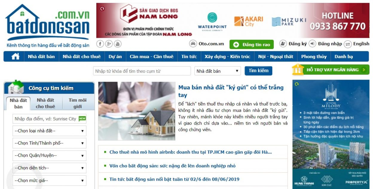 Với phương thức trình bày giao diện chuyên nghiệp batdongsan.com.vn đã giúp trang web này làm hài lòng được rất nhiều khách hàng cả người mua, người thuê đến người bán, cho thuê nhà đất.